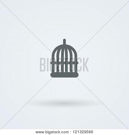 Simple minimalist icon birdcage.