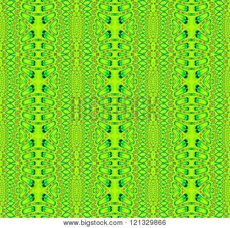 Seamless ellipses pattern lime green orange blue