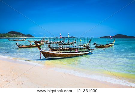 Mu Ban Khalita beach in Mueang district in Phuket, Thailand.