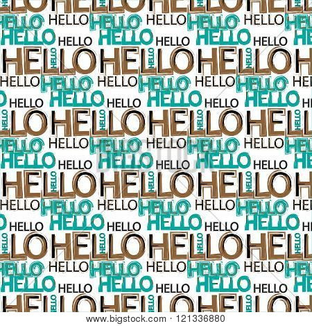 Hello message pattern background