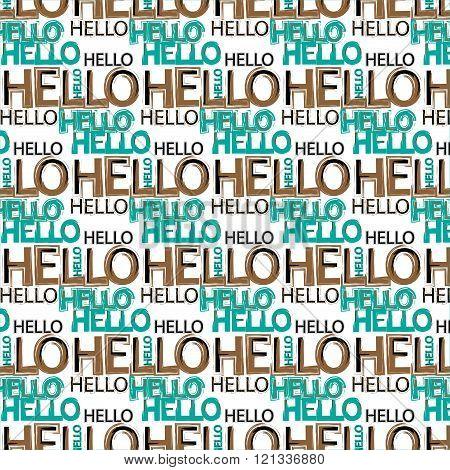 Hello message pattern background
