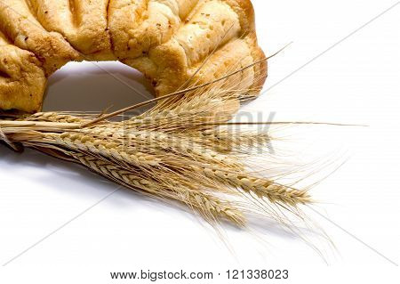 Linking Of Wheaten Ears And Big Bread