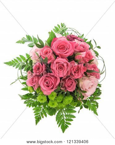 Soft Pink Rose Flowers Bouquet