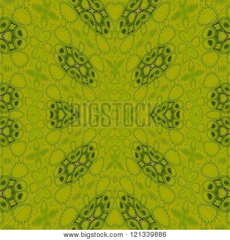Seamless ellipses pattern green