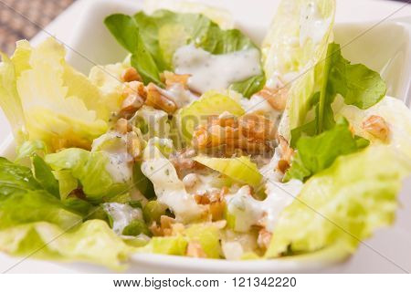 Fresh Salad And Nuts