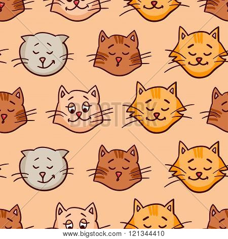 seamless pattern with cats 2