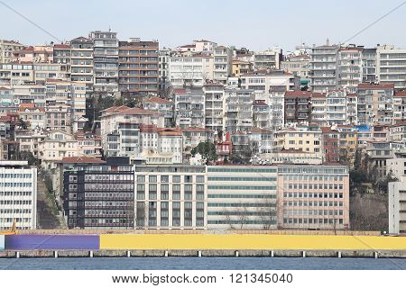 Karakoy District In Istanbul City, Turkey