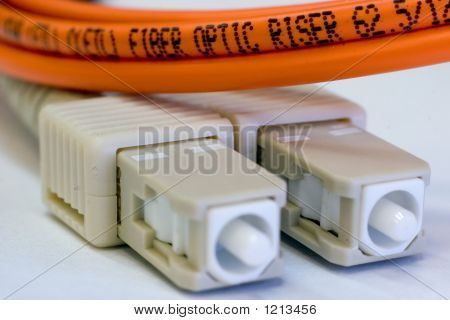 Orange Fiber Optic Riser