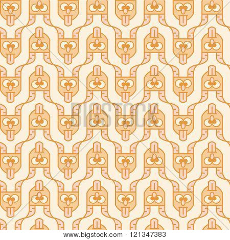 Seamless pattern, which consists of a devil head with protruding tongue