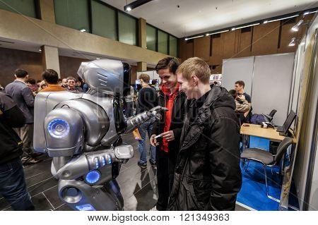 KYIV, UKRAINE - FEBRUARY 24, 2016: Innovation and tehnologies