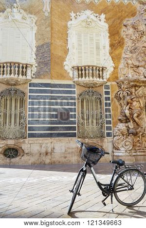 Valencia city Marques de Dos aguas building alabaster facade at Spain