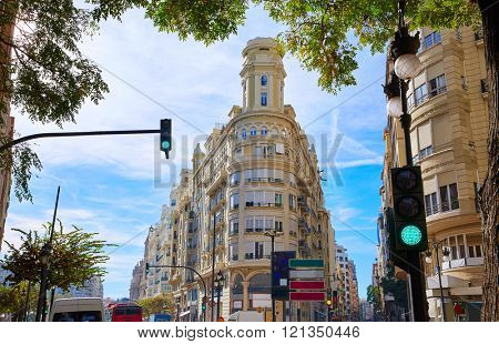 Ayuntamiento Square and San Vicente street corner in Spain