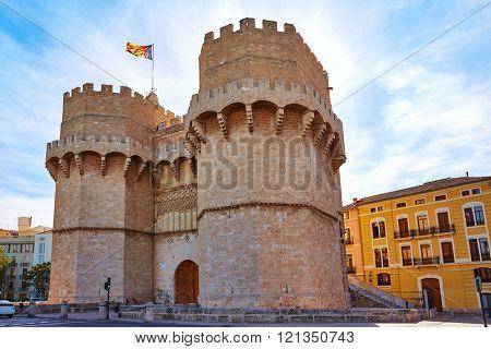 Valencia Torres de Serranos tower Porta de Serrans in Spain