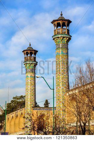 Minarets of Shahid Motahari mosque in Tehran, Iran