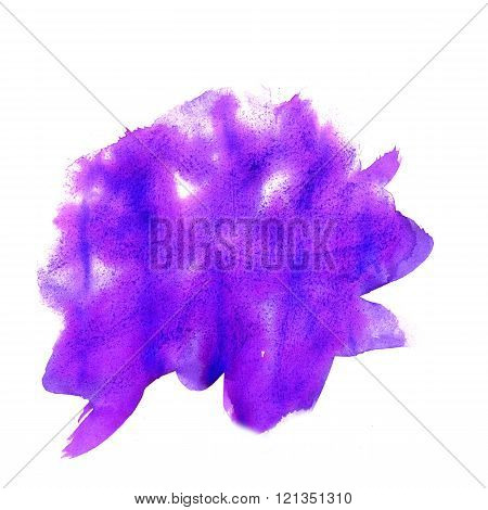 water color  watercolor texture splash blotch watercolour purple isolated on white background