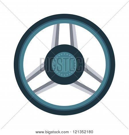 Car rudder wheel