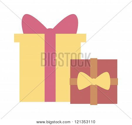 Gft box with ribbon vector.