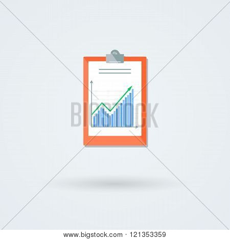 Paper board with schedule vector icon.