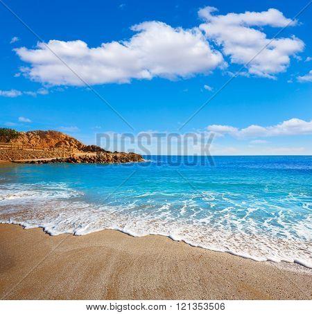 Cullera Platja del Far beach Playa del Faro in Valencia Spain
