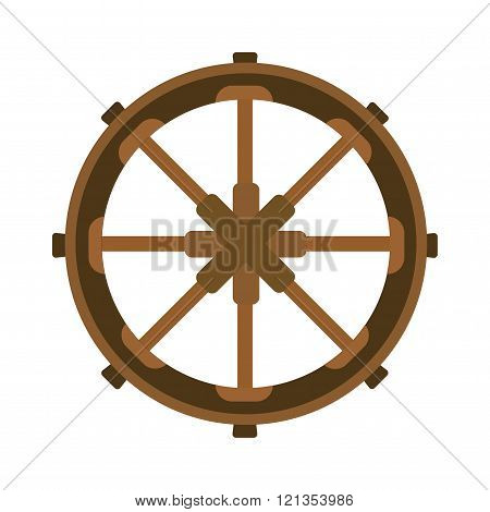 Yacht wheel vector illustration