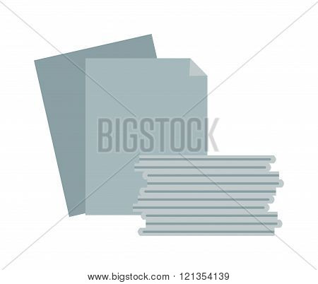 Paper stack vector illustration