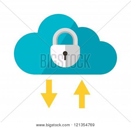 Cloud storage vector illustration.