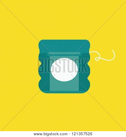 Dental floss vector illustration