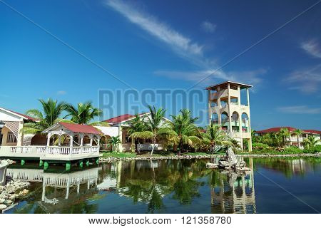 Beautiful inviting gorgeous amazing view of Cuban cozy Memories resort landscape and grounds