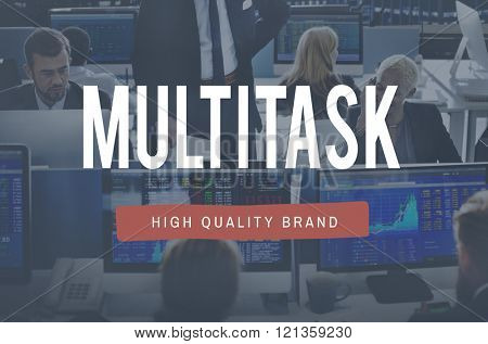 Multitask Management Corporate Business Concept