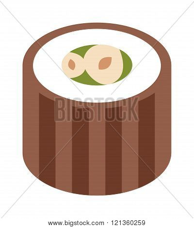 Eastern sweets traditional arabic food isolated on white background vector.