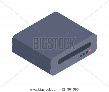 Computer Drive isometric icon vector illustration.