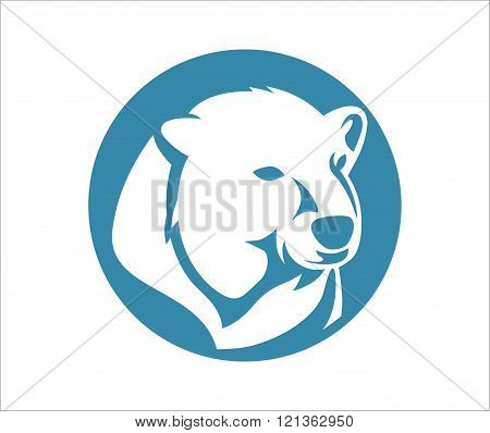 polar bear head design, suitable for the icon, print shirts, app icons and more