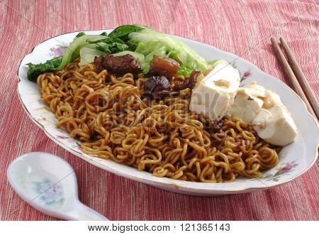 Bok Choy Tofu Steamed Chow Mein
