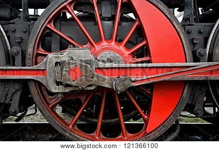 Red Steel Wheel With Red Spokes
