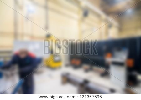 Industrial production factory theme blur background