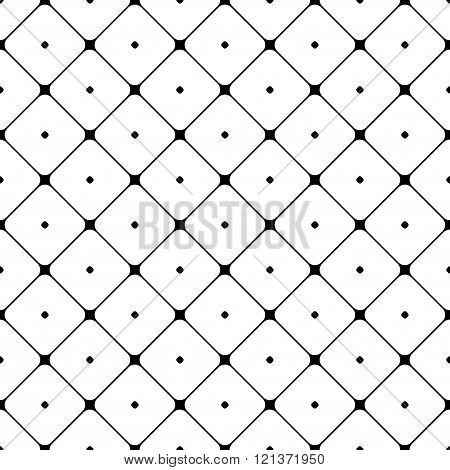 Polka dot seamless pattern. Rhombus ornament. Abstract fashion design. Geometric texture for background, wallpaper, wrapping and fabric, textile. Template print, website etc. Stock Vector illustration