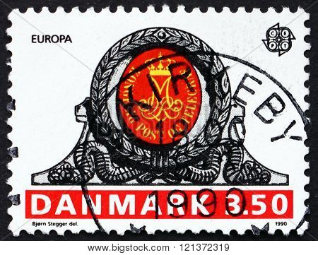 Postage Stamp Denmark 1990 Royal Monogram