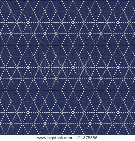 Weaving. Japanese sashiko motif. Seamless pattern.