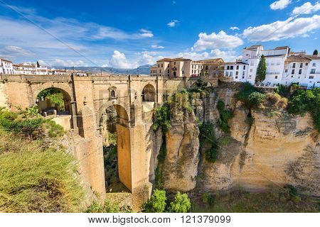 Ronda, Spain at the Puente Nuevo Bridge.