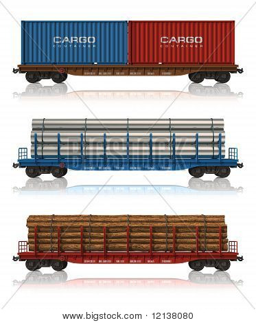 Set of freight railroad cars