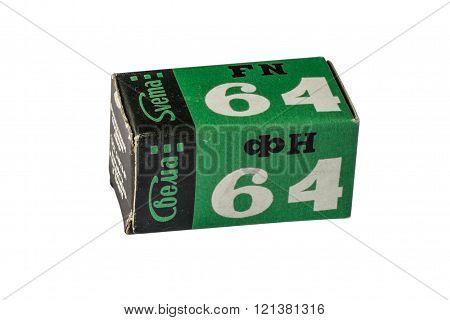 Svema 64 Film Pack On White Background