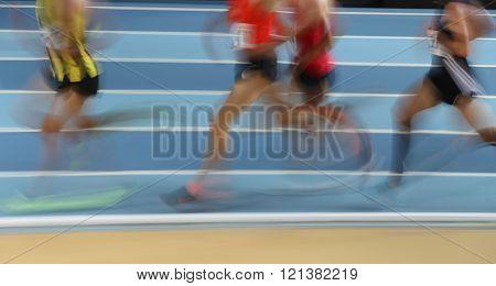 Blured athletes