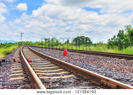 The railroad for transportation , transport railway