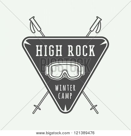 Vintage mountaineering and arctic expeditions logos badges emblems and design elements. Illustration
