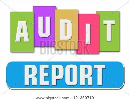 Audit Report Colorful Stripes Stripe