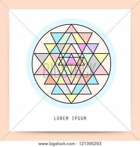 Sacred geometry, minimal geometric shape