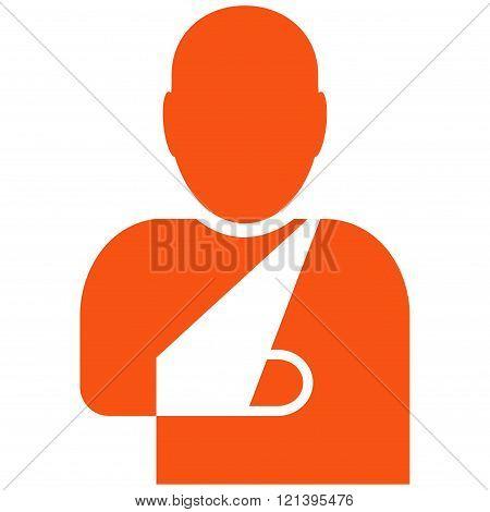 Patient Flat Vector Symbol
