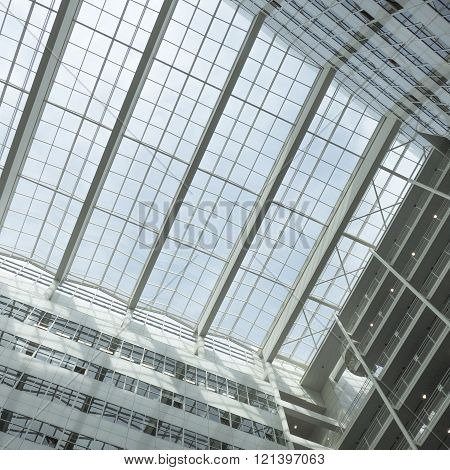 NETHERLANDS - THE HAGUE - CIRCA MARCH 2016: Roof of the City Hall in The Hague designed by Richard Meier.