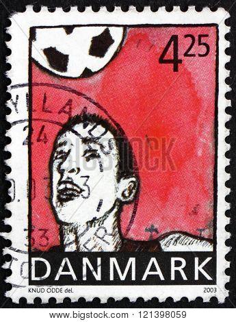 Postage Stamp Denmark 2003 Soccer, Youth Sport