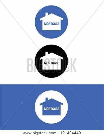 Vector Mortgage Icon Set in Colour, Black and Reverse